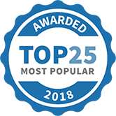 Top 25 Most Popular Health and Fitness Services badge for 2018